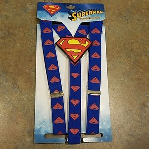 NWT  Boys Suspenders  SUPERMAN. Toddler